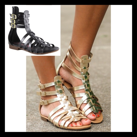 fd071ba8f9e2 Bella Marie Black Gladiator Sandals